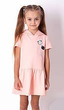 Літнє плаття для дівчинки, з капюшоном Mevis персикове р. 92, 98, 104, 110, 116