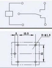 Реле електромагнітне  JQC-3F   котушка DC  5V (аналоги OMRON:G5L P&B:T73;NALS:JS HKE:HRS4 GOOD