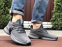 Чоловічі кросівки 10423 Adidas чорні Alphabounce Instinct сірі + Безкоштовна доставка