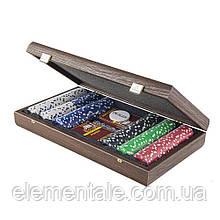 Набор для покера Manopoulos, в деревянном футляре 39х22см
