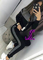 Женский спортивный костюм с люрексом два цвета . Размеры ( 42-44 ; 46-48 ; 50-52 )