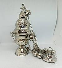 Кадило среднее никелированное (Греция)