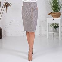 Классическая юбка в клетку с бежевым