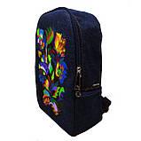 Рюкзак с вышивкой Бабочки, фото 2