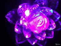 """Светильник-ночник """"Лилия"""" в розетку 8,5x8,5 см (пластик, металл) ., фото 1"""