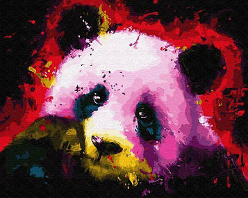 Картины по номерам 40х50 см Brushme Панда в красках (GX 30915)