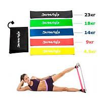 Набор фитнес резинок Esonstyle | Резинка для фитнеса и спорта 5 в 1 | Комплект резинок для фитнеса