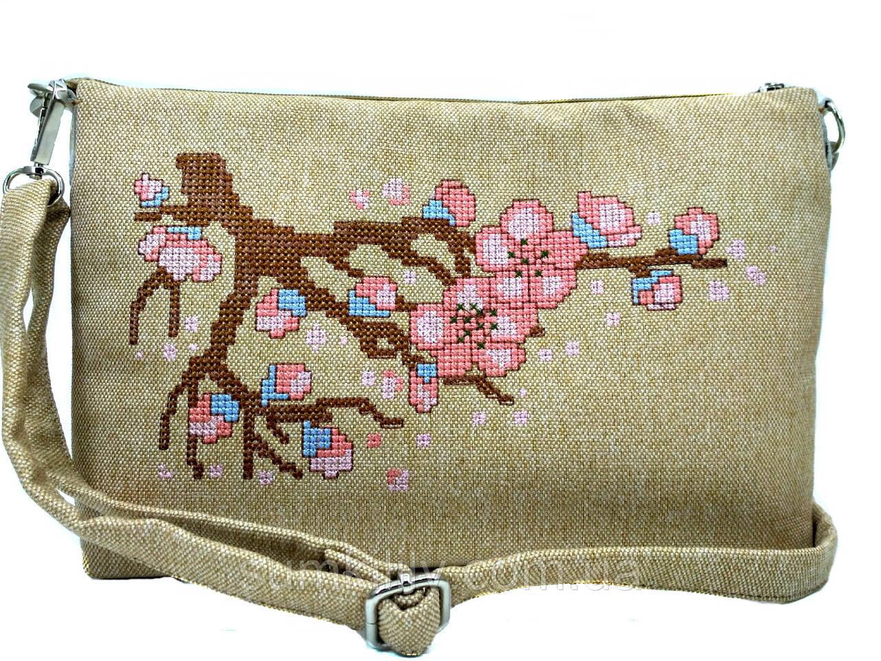 Текстильна сумка з вишивкою Сакура