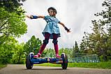 Гироборд Smart Balance 8 дюймов Космос фиолетовый самобаланс   гироскутер детский Смарт Баланс 8 LED фары, фото 5