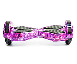Гироборд Smart Balance 8 дюймов Космос фиолетовый самобаланс   гироскутер детский Смарт Баланс 8 LED фары, фото 3