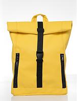 Рюкзак Roll унісекс 43(54)*31*14 см  жовтий