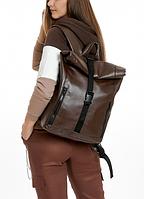 Рюкзак Roll унісекс 43(54)*31*14 см коричневий