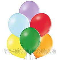 """Латексные шарики 10,5"""" пастель В85 ассорти 50шт/уп BelBal"""