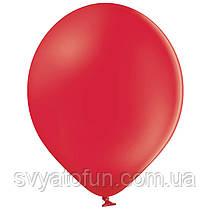 """Латексные шарики 10,5"""" пастель В85/001 красный 50шт/уп BelBal"""