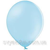 """Латексные шарики 10,5"""" пастель В85/003 голубой 50шт/уп BelBal"""