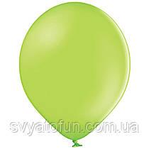 """Латексные шарики 10,5"""" пастель В85/008 зеленое яблоко 50шт/уп BelBal"""