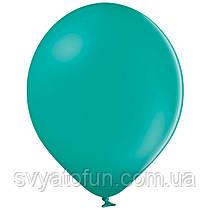 """Латексные шарики 10,5"""" пастель В85/013 бирюзовый 50шт/уп BelBal"""