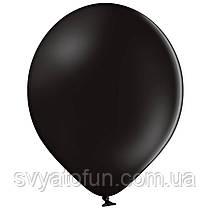 """Латексные шарики 10,5"""" пастель В85/025 черный 50шт/уп BelBal"""