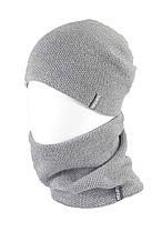 В'язана шапка з Buff снуд КАНТА унісекс розмір дорослий, сірий (OC-037)