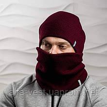 В'язана шапка з Buff снуд КАНТА унісекс розмір дорослий, бордо (OC-0377)