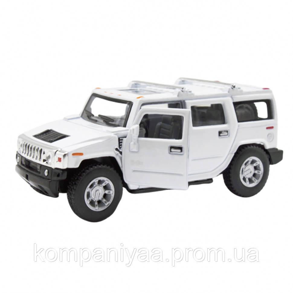 """Коллекционная инерционная металлическая машинка """"Hummer H2"""" KT5337W (Белый)"""