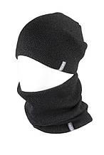 В'язана шапка з Buff снуд КАНТА унісекс розмір дорослий, чорний (OC-034)