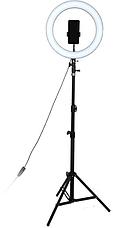 Кільцева LED лампа RING FILL LIGHT LC-330 діаметр 33см, живлення usb, Кільцева селфи лампа без штатива, фото 2