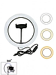 Кільцева LED лампа RING FILL LIGHT LC-330 діаметр 33см, живлення usb, Кільцева селфи лампа без штатива, фото 4