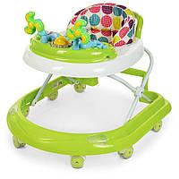 """Детские ходунки-каталка с игровой панелью, системой """"первые шаги"""" EL CAMINO DOLPHIN ME 1056 Green салатовый"""