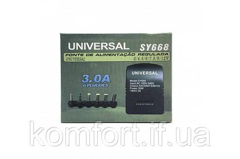 Автомобільний універсальний зарядний пристрій 12В для ноутбука SY-668 30W, фото 2
