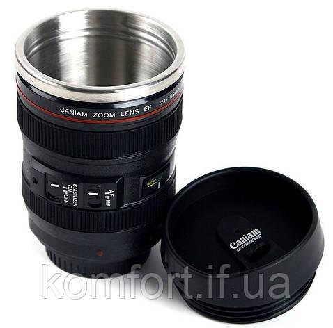 Термокружка у вигляді об'єктива Canon 24-105L, фото 2
