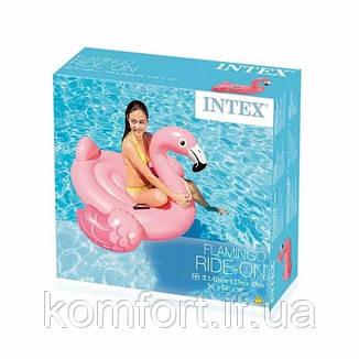 Надувной плотик для катания Intex 57558 Фламинго 147 х 140 х 94 см, фото 2
