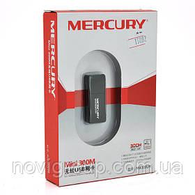 Бездротовий мережевий адаптер Wi-Fi-USB MERCURY mini MW300UM, 802.11 bgn, 300MB, 2.4 GHz, WIN7 / XP / Vista /