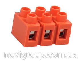 Клемний блок H2519-3P 36A / 660V, матеріал мідь, перетин дроту 0.5-6мм2