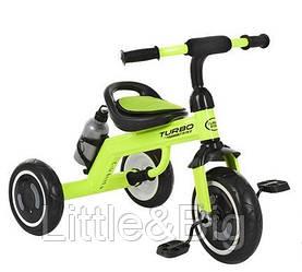 """Детский велосипед """"Гномик"""" трехколесный Turbotrike (САЛАТОВЫЙ) арт. 3648M2"""