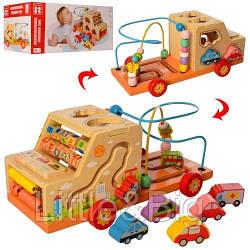 """УЦЕНКА!! Развивающая деревянная игрушка """"Машина"""" (бизиборд, пальчиковый лабиринт) арт. 2201(39202)"""