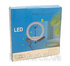 Кольцевая LED лампа JY-300 диаметр 30см, usb,  управление на проводе (471-500), фото 2