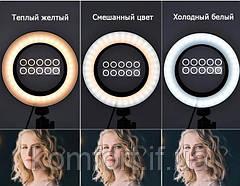 Кольцевая LED лампа JY-300 диаметр 30см, usb,  управление на проводе (471-500), фото 3