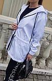 Жіноча вітровка подовжена з капюшоном 42-44, 46-48 різні кольори, фото 2
