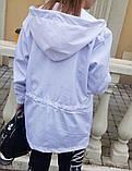 Жіноча вітровка подовжена з капюшоном 42-44, 46-48 різні кольори, фото 7