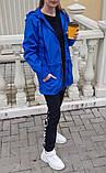 Жіноча вітровка подовжена з капюшоном 42-44, 46-48 різні кольори, фото 5