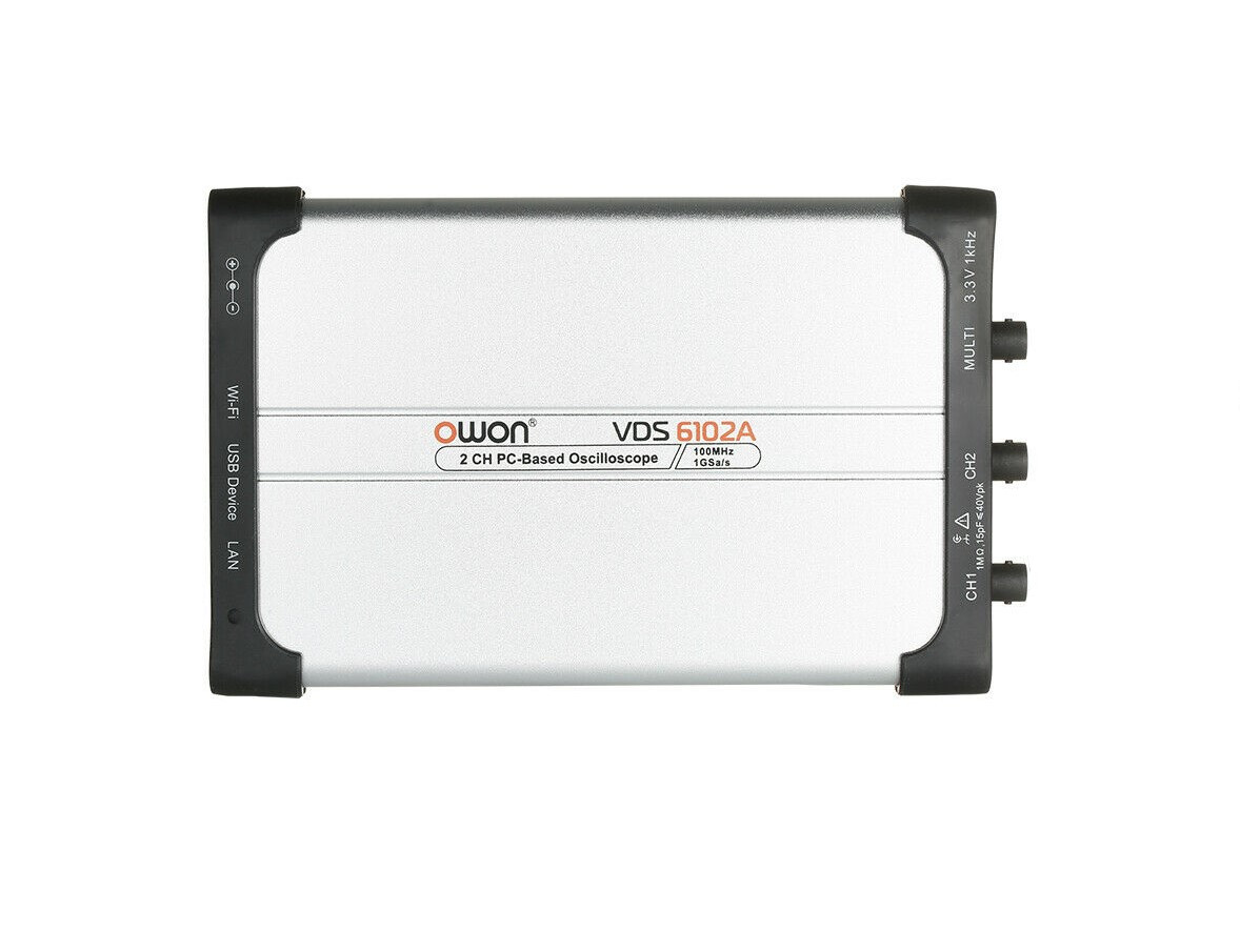 Цифровий осцилограф (PC USB, 2х100МГц, 14 біт) OWON VDS6102A