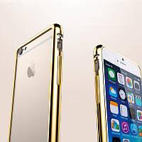 "Бампер металлический Golg Chrome для Apple iPhone 6 (4,7""), фото 1"
