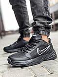Кроссовки мужские 18515, Nike Air Monarch, черные [ 41 43 44 45 ] р.(41-26,5см), фото 2