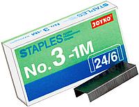 Скобы для канцелярских степлеров №3-1М 24/6 (1000шт)