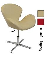 Барный стул со спинкой регулируемый Bonro B-571 кресло для кухни барной стойки Кремовый