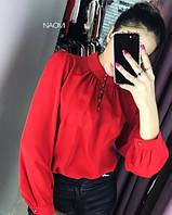 Женская стильная блузка под горло, фото 1