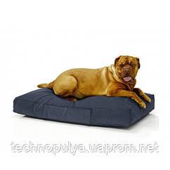 Безкаркасний лежак для собак Beans Bag з тканини Оксфорд стронг 115х75 см з чохлом Синій (hub_4r15nw)