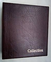 Альбом для монет и банкнот Elit наборной красные листы Коричневый (hub_kp2uce)