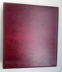 Альбом для монет и банкнот Elit наборной красные листы Бордо (hub_qx1vmg)